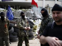 Горсовет Мариуполя вновь захватили представители ДНР... и отравились газом (ВИДЕО)
