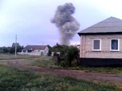 Бой в Александровке: в обстрелянном складе оружия сдетонировали боеприпасы (ВИДЕО)
