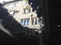 Результаты обстрела Куйбышевского района Донецка (ФОТО)