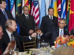 Путин и Обама вместе пили шампанское