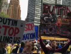 """Путин - вор и убийца"", - митинг протеста в Нью-Йорке  (ВИДЕО)"