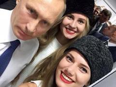Селфи с Путиным сделало красавицу счастливой