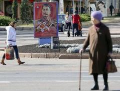 В Донецке  развешивают портреты и цитаты Сталина