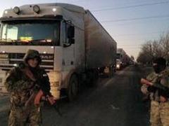 Вчера на Донбассе  пограничники задержали несколь фур с товаром на сумму более 500 тысяч гривен, которые без документов ехали в зону АТО