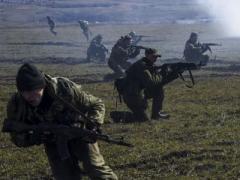 Пехота боевиков отстреливалась, уходя в районе донецкого аэропорта