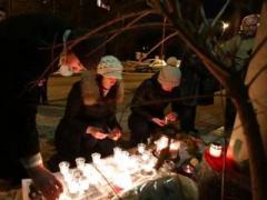 Под посольством Франции в Киеве почтили память жертв терактов (ВИДЕО)