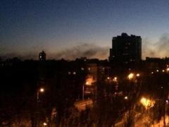 В Донецке снова жарко -  гремят залпы и взрывы (ВИДЕО)
