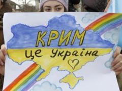 В погруженном во мрак Симферополе крымчане поют гимн Майдана (ВИДЕО)