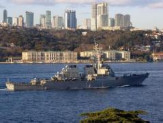Эсминец ВМС США USS ROSS вошел в Черное море