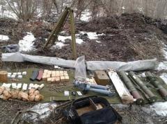 На Донбассе СБУ обнаружила тайники с боеприпасами