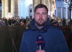 Захватчики отеля разбили палатки на Майдане