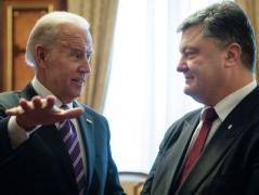 Байден похвалил Порошенко за Шокина и обсудил с ним дальнейшее давление на Россию