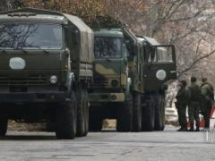 В Новоазовск прибыла колонна военной техники, боеприпасы и живая сила противника