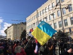Украинский флаг и стихи Орлуши - в Москве проходит марш памяти Бориса Немцова