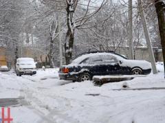 В Донецке коммунальщики борются с последствиями снегопада