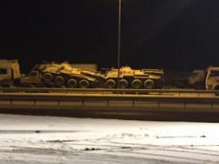 К границе с Украиной переброшена очередная колонна  военной техники из РФ