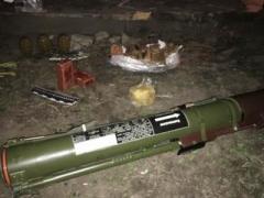 В Донецкой области у депутата горсовета нашли гранатомет и взрывчатку