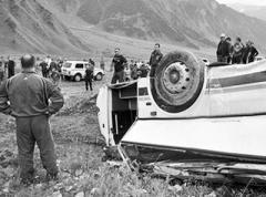 Автобус с российскими офицерами рухнул в пропасть в Южной Осетии, есть погибшие