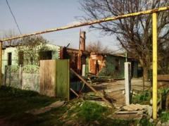 Два частных дома сгорели в результате ночного обстрела Зайцево