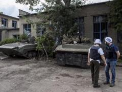 """""""Русский мир"""": в школе в Зайцево боевики хранят оружие"""