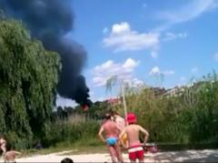 В центре Донецка горел особняк (ВИДЕО)