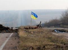 Над позициями оккупантов подняли украинский флаг