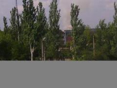 В районе Ясиноватского блокпоста мощный взрыв, в небо взметнулся столб дыма