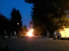 В Ясиноватой загорелся микроавтобус