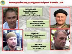 Разведка рассекретила фамилии диверсантов боевиков