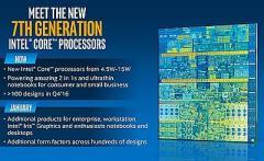 Intel представила седьмое поколение процессоров Core