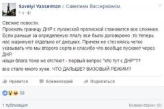 """Дальше визовый режим?"""" - блогер о сложностях пересечения """"границы ЛНР с ДНР"""""""