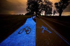 В Польше создали светящиеся велодорожки