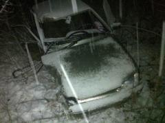 В Славянске произошло первое снежное ДТП