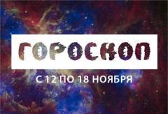 Астрологический прогноз с 12 по 18 ноября