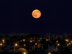 В ночь с 13 на 14 ноября можно будет наблюдать очень яркое красивое Суперлуние
