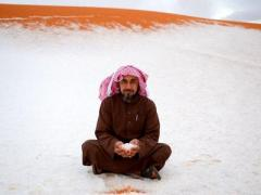 В Саудовскую Аравию пришла русская зима (ВИДЕО)
