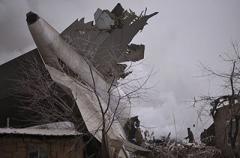 На киргизский поселок упал Boeing 747: число жертв растет