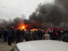 """В Одессе сегодня горели """"Привоз"""" и мебельная фабрика"""