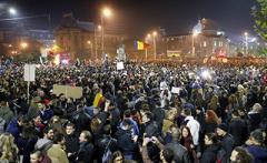 Столицу Румынии наводнил 50-тысячный митинг
