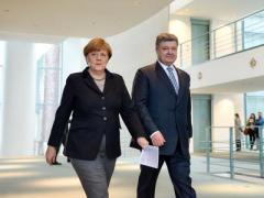 """Порошенко и Меркель обсудили выполнения """"Минска"""" и пути привлечения США к урегулированию ситуации на Донбассе"""