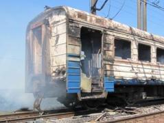 """Из-за обстрелов горел вагон  в депо на станции """"Донецк-Северный"""""""