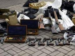 В подсобке киевского паркинга обнаружен арсенал боеприпасов