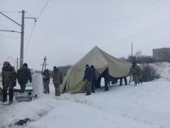 Торговая блокада Донбасса: Семенченко заявил, что блокпост в Бахмуте продолжает работу