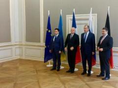 """Главы МИД """"нормандской четверки"""" призвали прекратить блокаду Донбасса"""