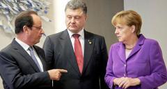 Порошенко повідомив, про що буде говорити з Олландом та Меркель