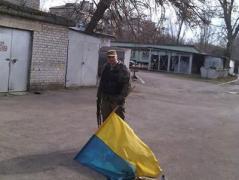 В оккупированной Горловке при обыске предприятия боевики нашли флаг Украины (ФОТО)