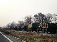 В оккупированный Донецк прибыло несколько колонн военной техники оккупантов