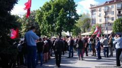 У Запоріжжі відбуваються сутички між проукраїнськими активістами та учасниками акції «Полк перемоги»