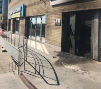 В Днепре подожгли офис «Оппозиционного блока»