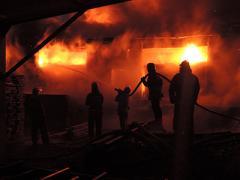 Пожар на фабрике под Киевом: видео с места ЧП